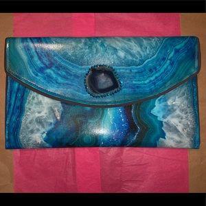 Aqua Geode Clutch